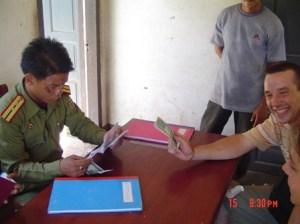 """There was an """"extra service fee"""" when my bus crossed the Lao-Vietnam border."""