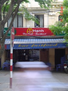 This Hanoi eatery is definitely breaking copyright laws...