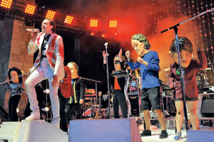 Montreal's Arcade Fire lived up to their live concert performance renown at the SB Bowl last Monday