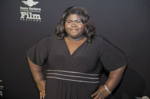 Gabourey Sidibe poses on the red carpet prior to receiving her Virtuoso Award.