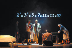 "A scene from Complicite's production of ""A Disappearing Number,"" conceived and directed by Simon McBurney. Stephanie Berger Photos"