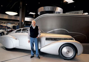 "Peter Mullin of the Mullin Automotive Museum in Oxnard stands with a 1938 Bugatti Dubonnet Hispano-Suiza H6C ""Xenia."" Mr. Mullin is leading a renovation of the Petersen Automotive Museum in Los Angeles. HELENA DAY BREESE/NEWS-PRESS"