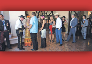 2015 El Presidente Cas Stimson, second from left, greets guests at Fess Parker's DoubleTree Resort for the annual La Recepción del Presidente to celebrate the upcoming Fiesta week. MICHAEL MORIATIS/NEWS-PRESS