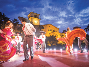 "Grupo Quetzalcoatl performs ""El Son de La Negra"" at Noches de Ronda on Thursday at the Courthouse Sunken Garden.  NIK BLASKOVICH/NEWS-PRESS"