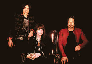 The Last Internationale, from left, guitarist Edgey Pires, lead vocalist Delila Paz and drumer Brad Wilk (also of Rage Against the Machine) BB Gun Press