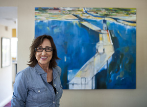 """It's a great opportunity to meet new clientele and to showcase my new series,"" says artist Michele Zuzalek of the Santa Barbara Studio Artists Tour. This is the 14th year that local artists have been opening their studios to the public. Kenneth Song/News-Press photos"