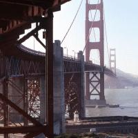 Golden Gate Bridge Below June 1988
