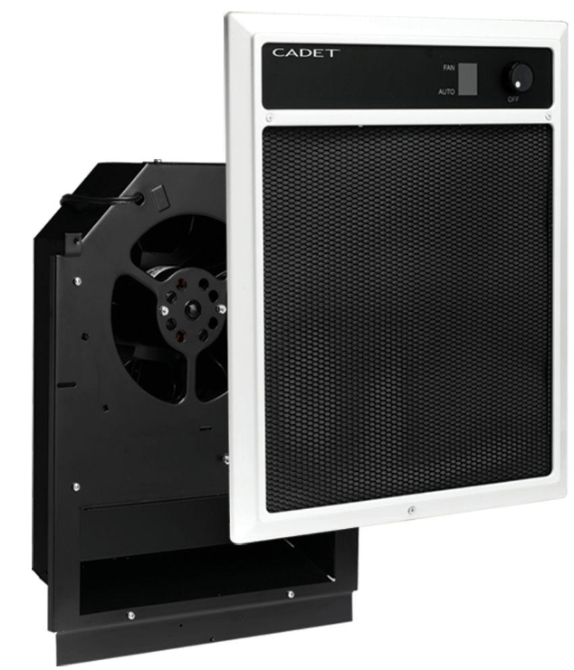 Cadet NLW Series 4,500-Watt 240/208-Volt In-Wall Fan-Forced Electric Heater Assembly with Grill