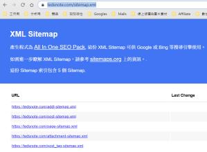 sitemap範例