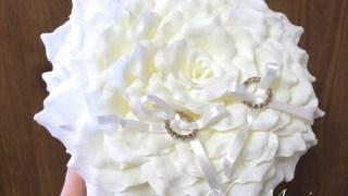 花びらいっぱいリングピローの作り方