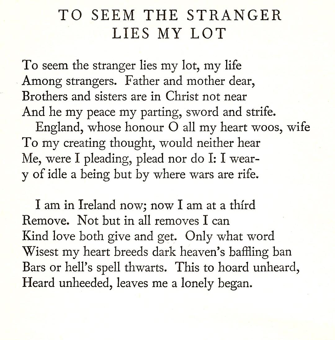To Seem the Stranger