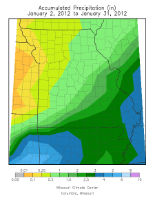 January Precipitation Total