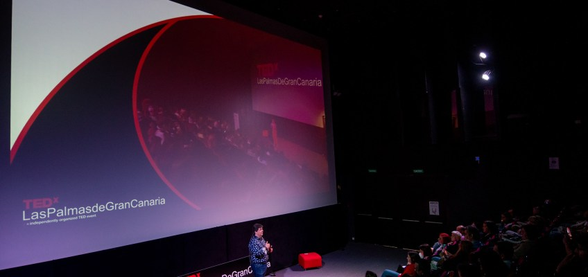 José Tándem durante su charla en TEDxLasPalmasDeGranCanaria