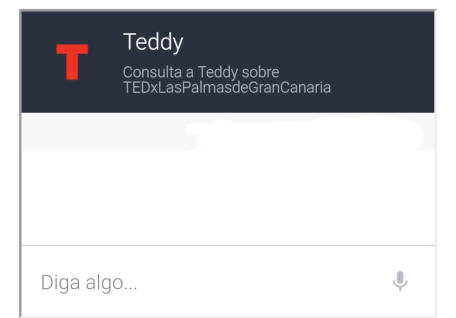 Teddy, el chatbot de TEDxLasPalmasdeGranCanaria