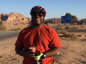 photo of Péralte Paul cycling
