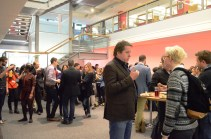Attendees enjoy a well-earned lunch