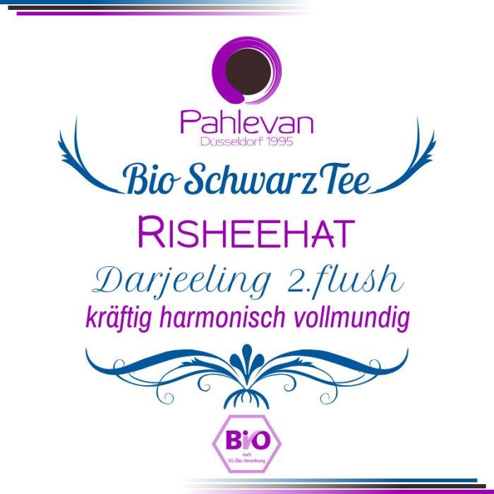 Bio Schwarzer Tee Darjeeling Risheehat second flush   kräftig harmonisch vollmundig von Tee Pahlevan
