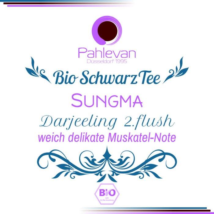Bio Schwarzer Tee Darjeeling Sungma second flush   weich delikate Muskatel-Note von Tee Pahlevan