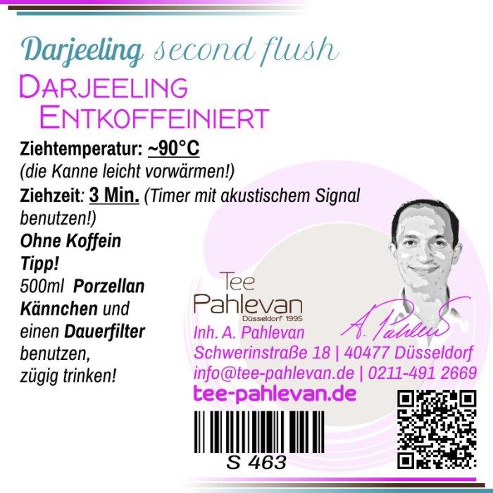 Schwarzer Tee Darjeeling Entkoffeiniert second flush | mitteldunkel mild ohne Koffein von Tee Pahlevan