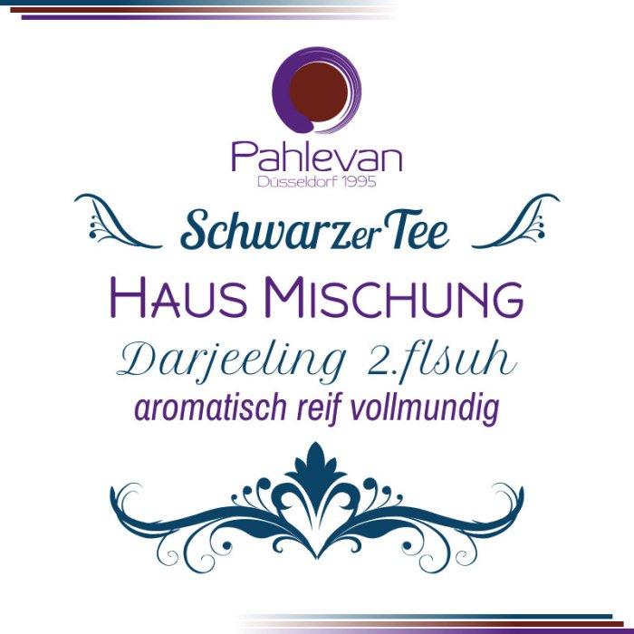 Schwarzer Tee Darjeeling Hausmischung second flush   aromatisch reif vollmundig von Tee Pahlevan