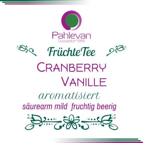 Früchtetee Cranberry Vanille | säurearm, mild, fruchtig mit beeriger Note von Tee Pahlevan