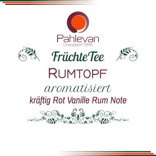 Früchtetee Rumtopf | kräftig, rot mit Vanille-Rum Note von Tee Pahlevan