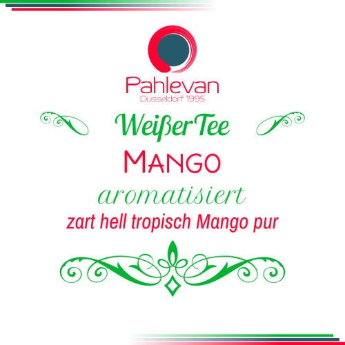 Weißer Tee Mango   zart, hell, tropisch