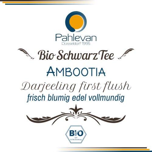 Bio Schwarzer Tee Darjeeling Ambootia first flush | frisch blumig edel vollmundig von Tee Pahlevan