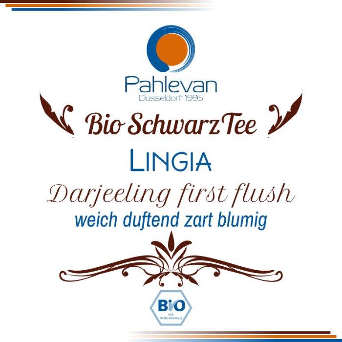 Bio Schwarzer Tee Darjeeling Lingia first flush | weich duftend zart blumig von Tee Pahlevan