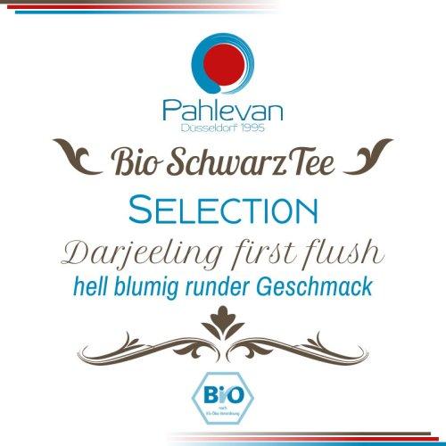 Bio Schwarzer Tee Darjeeling Selection first flush | hell blumig runder Geschmack von Tee Pahlevan