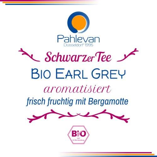 Schwarzer Tee Bio Earl Grey | frisch fruchtig mit natürlichem Bergamotten Öl von Tee Pahlevan
