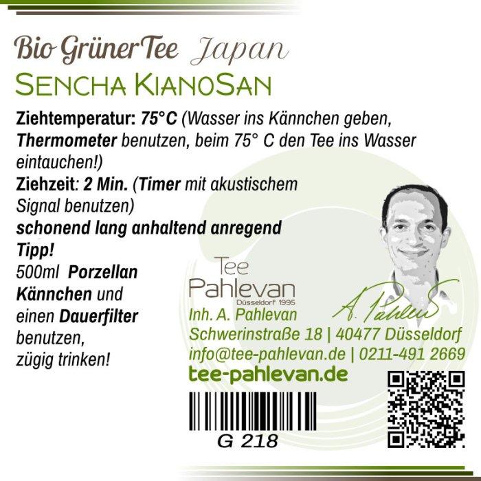 Bio Grüner Tee Kianosan | 75°C, Ziehzeit 2 Minuten anhaltend anregend von Tee Pahlevan