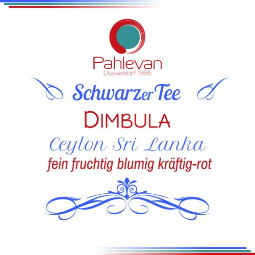 Schwarzer Tee Ceylon Dimbula   fein fruchtig blumig kräftig rot von Tee Pahlevan