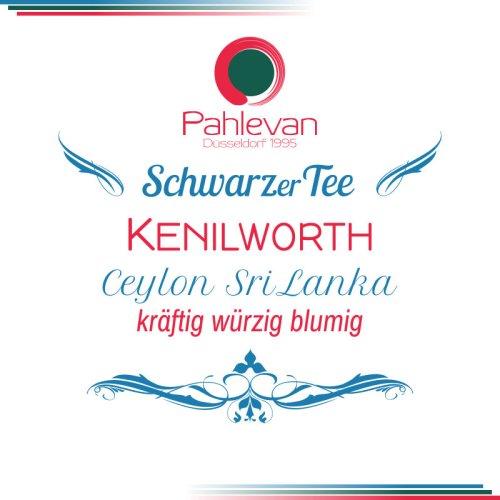 Schwarzer Tee Ceylon Kenilworth   kräftig würzig blumig von Tee Pahlevan