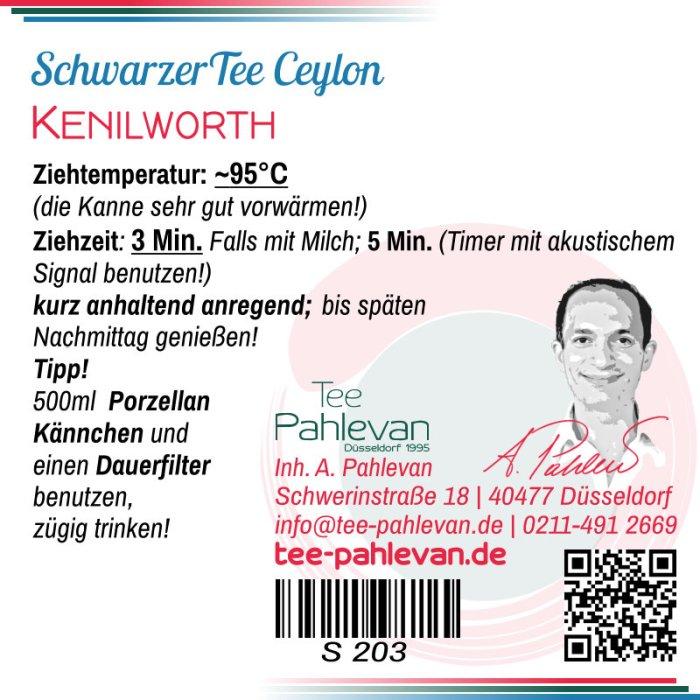 Schwarzer Tee Ceylon Kenilworth | kräftig würzig blumig von Tee Pahlevan