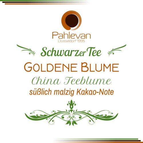 Schwarzer Tee China Goldene Blume   süßlich malzig Kakao-Note von Tee Pahlevan