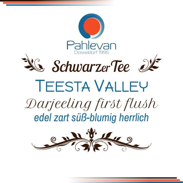 Schwarzer Tee Darjeeling Teesta Valley first flush | edel zart süß-blumig herrlich Rarität von Tee Pahlevan