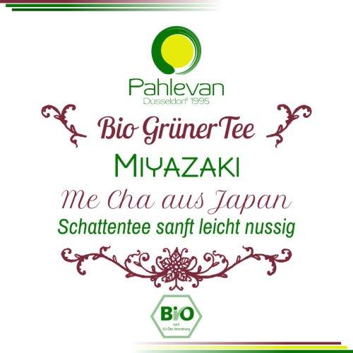 Bio Grüner Tee Gyokuro Me Cha Miyazaki | aus Japan Schattentee sanft leicht nussig von Tee Pahlevan
