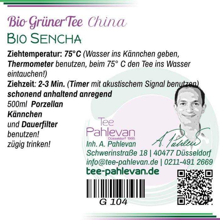 Bio Grüner Tee Sencha | 75°C, Ziehzeit 2-3 Minuten anregend von Tee Pahlevan