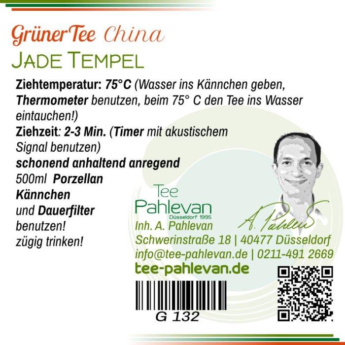 Grüner Tee Jade Tempel | 75°C, Ziehzeit 2-3 Minuten anregend von Tee Pahlevan