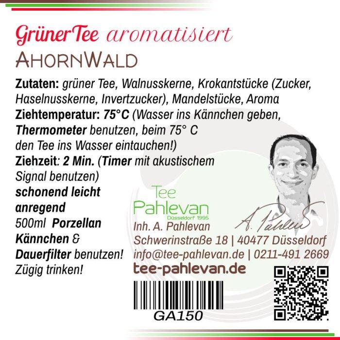 Grüner Tee Ahorn Wald   75°C, Ziehzeit 2-3 Minuten anregend von Tee Pahlevan