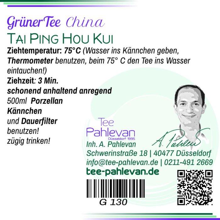 Grüner Tee Tai Ping Hou Kui | 75°C, Ziehzeit 2-3 Minuten anregend von Tee Pahlevan