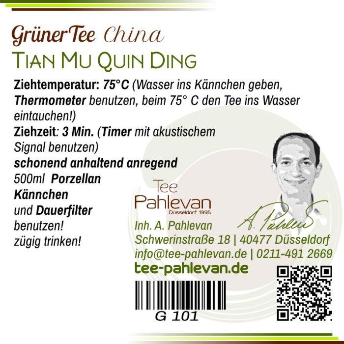 Grüner Tee Tian Mu Quing Ding | 75°C, Ziehzeit 2-3 Minuten anregend von Tee Pahlevan