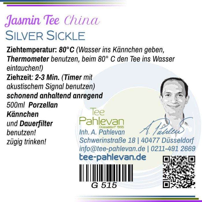Jasmintee Silver Sickle | 80°C, Ziehzeit 2-3 Minuten leicht anregend von Tee Pahlevan