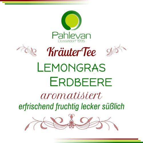 Kräutertee Lemongras Erdbeere   erfrischend fruchtig lecker süßlich von Tee Pahlevan