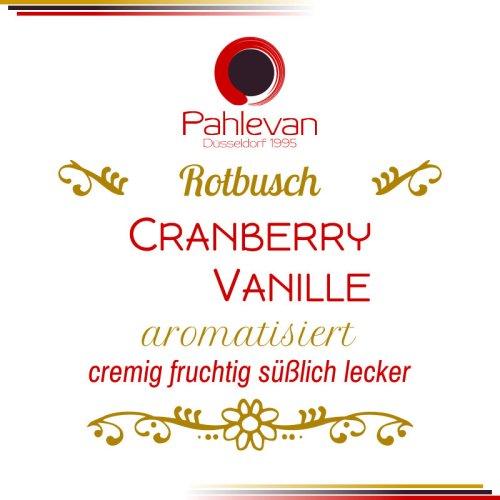 Rotbusch Tee Cranberry Vanille | cremig fruchtig süßlich lecker von Tee Pahlevan