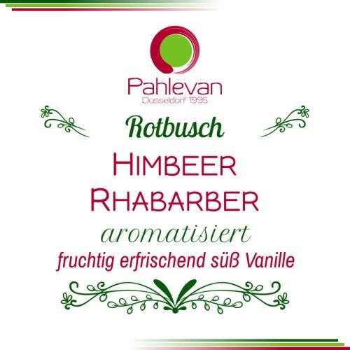 Rotbusch Tee Himbeer Rhabarber | fruchtig erfrischend süß mit Vanille von Tee Pahlevan