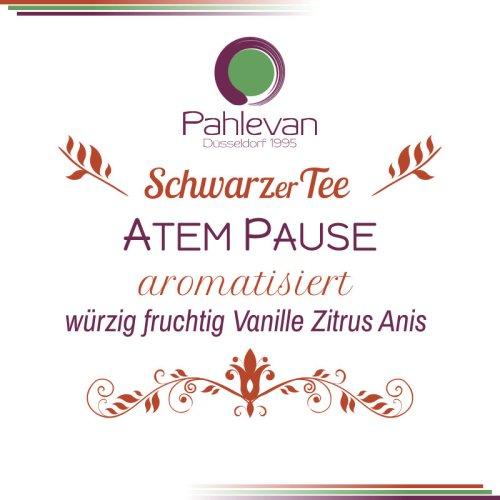 Schwarzer Tee Atempause | würzig fruchtig mit Vanille Zitrus Anis von Tee Pahlevan
