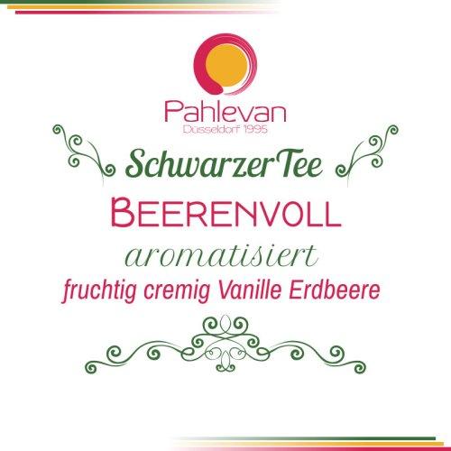Schwarzer Tee Beerenvoll | fruchtig cremig mit Vanille Erdbeere von Tee Pahlevan