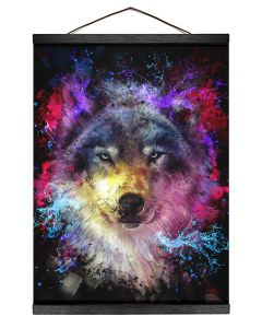 Colorful Wolf Hanging Canvas